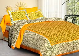 Dainty Cotton Printed Double Bedsheet