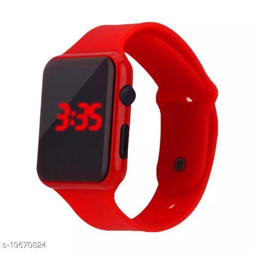 Resh Digital Led Watch band type red colour mens watch boys watch womens watch girls watch kids watch