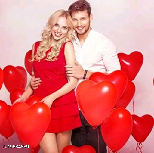30pcs Red Heart Metallic Balloons (10inch) for Birthday Decoration