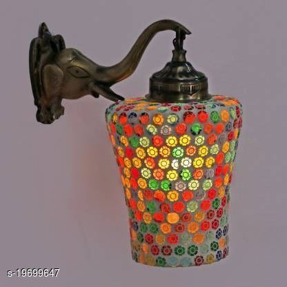 Afast New Stylish Hand Decorative Colorful Glass Wall Lamp Light With Elephant Shape Fitting EW-eL17