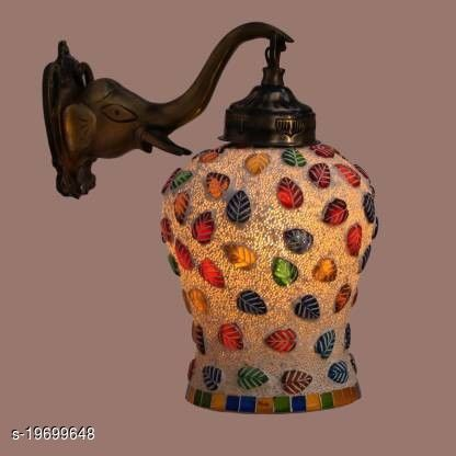 Afast Designer Wall Lamp Light With Hand Decorated Glass Ornaments With Colorfull Chips & Beeds For Magicel & Romantic In Effect-Ew30