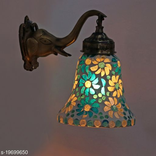 Afast Designer Wall Lamp Light With Hand Decorated Glass Ornaments With Colorfull Chips & Beeds For Magicel & Romantic In Effect-Ew23
