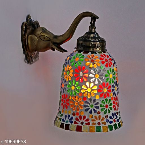 Afast New Stylish Hand Decorative Colorful Glass Wall Lamp Light With Elephant Shape Fitting EW-eL14