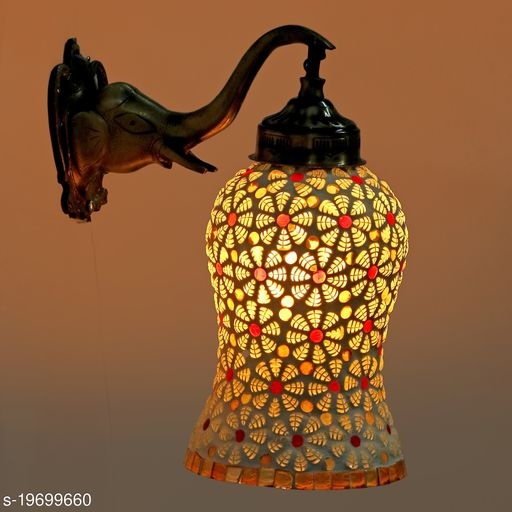 Afast New Stylish Hand Decorative Colorful Glass Wall Lamp Light With Elephant Shape Fitting EW-eL15