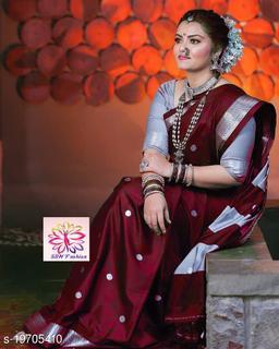 Shree silk Brown silver zari Pethni Design saree