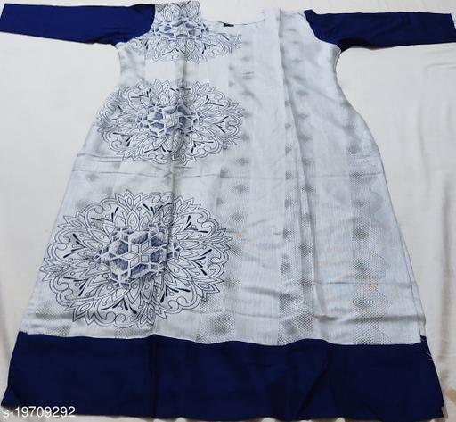 Bluebells Women's  round neck printed rayon Kurti