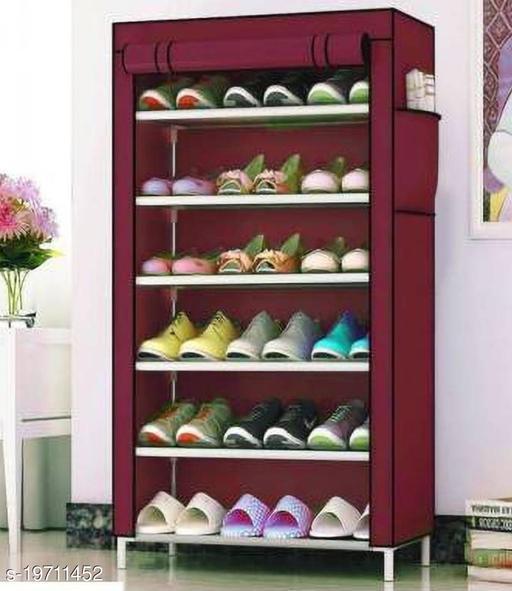 DIVANDIYA 6 Layer Slim Storage Organizer Rack for Kitchen, Bedroom, Bathroom-Maroon