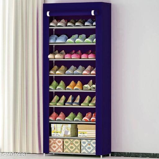 DIVANDIYA 9 Layer Slim Storage Organizer Rack for Kitchen, Bedroom, Bathroom-Navy