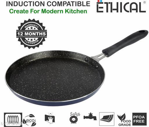 ETHICAL MASTREO Series Non-Stick Dosa Tawa/Chapati Tawa/Multi Purpose Induction Tawa Tawa 25 cm diameter (Aluminium, Non-stick, Induction Bottom)
