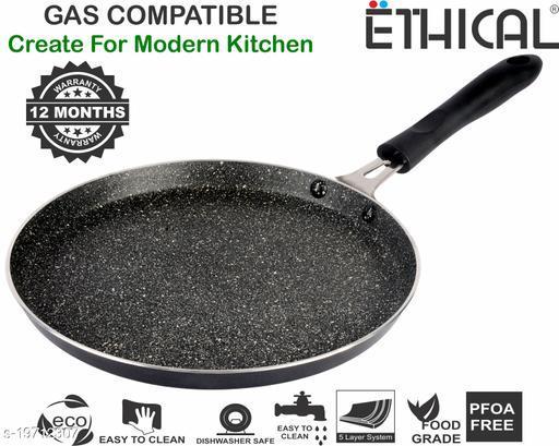 ETHICAL MASTREO Series without Induction Base Non-Stick Dosa Tawa/Chapati Tawa/Paratha Tawa/Multi Purpose Tawa 25 cm diameter (Aluminium, Non-stick)