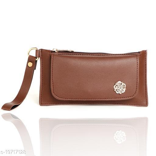 Attractive Women's Brown PU Wallet