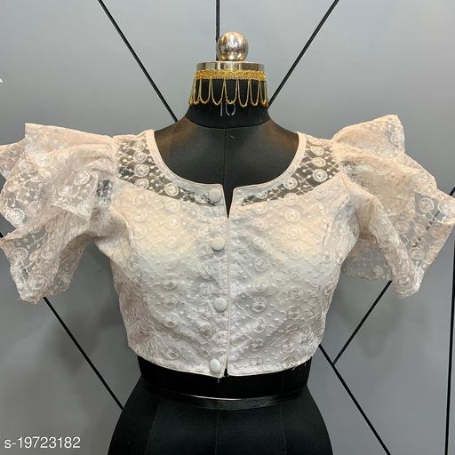 Readymade Net Blouse with frill Sleeve