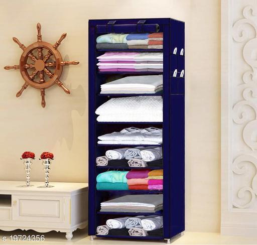 PYXBE 9 Layer Slim Storage Organizer Rack for Kitchen, Bedroom, Bathroom-Navy