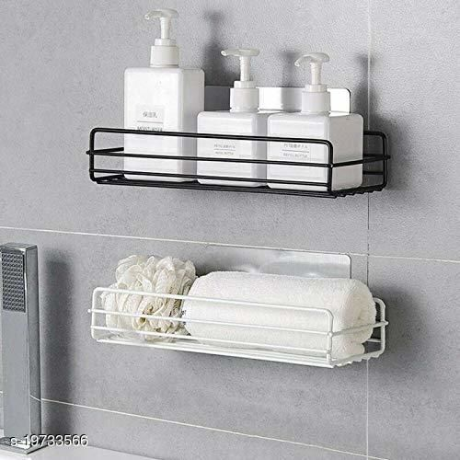 Bathroom Accessories Holder Wall Mount self Adhesive Bathroom Kitchen Organize Shelf Rack Stand ,Bathroom Self Storage Shampoo, Soap, Lotions, Oil and Liquid Conditioner Holder(Multi/1 pcs)