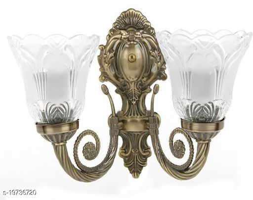 Afast New Trendy Designed Decorative Glass & Brass Wall Lamp