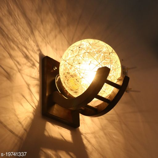Afast Light, Wood, Glass, Round, B22 Holder ( Set Of 2 ) SA23