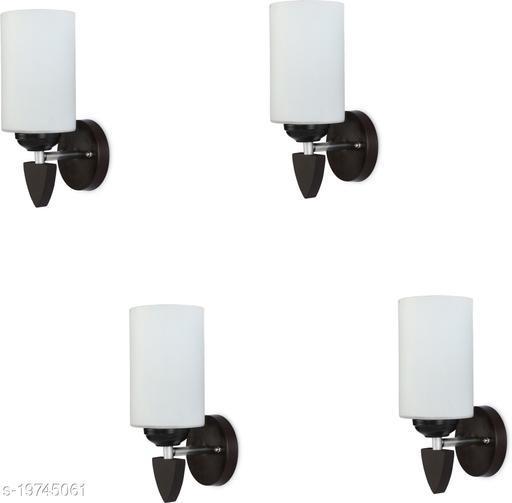 Afast LED Sconce Glass & Wood Wall Lamp/Light, 7 Watt & Wall Fixture (Set Of Four)-Rt198