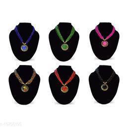 Stylish 6 Pcs Set Beads Necklace