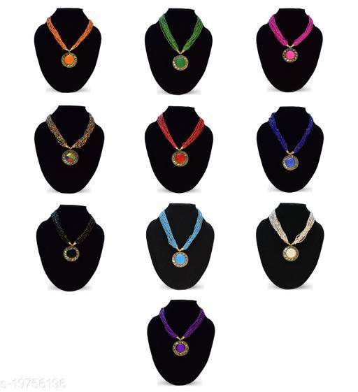 Stylish 10 Pcs Set Beads Necklace
