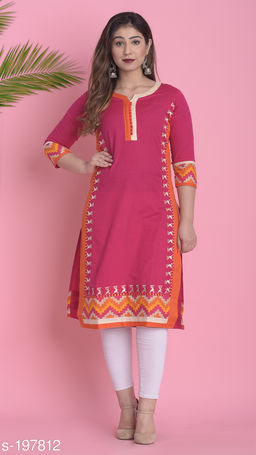 Divena Women's Ethnic Motif Embroidered A-line Kurti