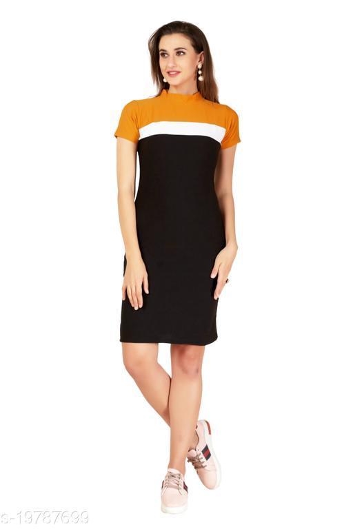 The Heart Of Fashion Bodycon Party Wear One Piece Knee Length Dress (Midi Dress)