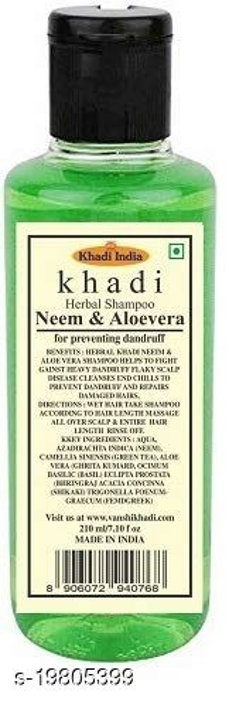 Khadi Herbal  Neem Aloevera Shampoo 210 ml