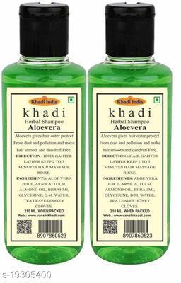 Khadi Herbal Aloevera Shampoo 210 ml (Pack Of 2)