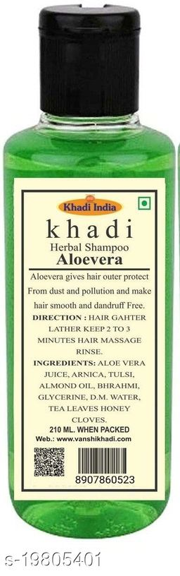 Khadi Herbal Aloevera Shampoo 210 ml