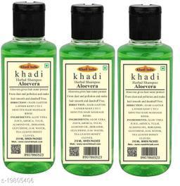 Khadi Herbal Aloevera Shampoo 210 ml (pack Of 3)