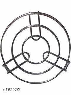 Hot Pot Trivet Stand For Kitchen Stainless Steel Round Shape Multipurpose 1 Piece