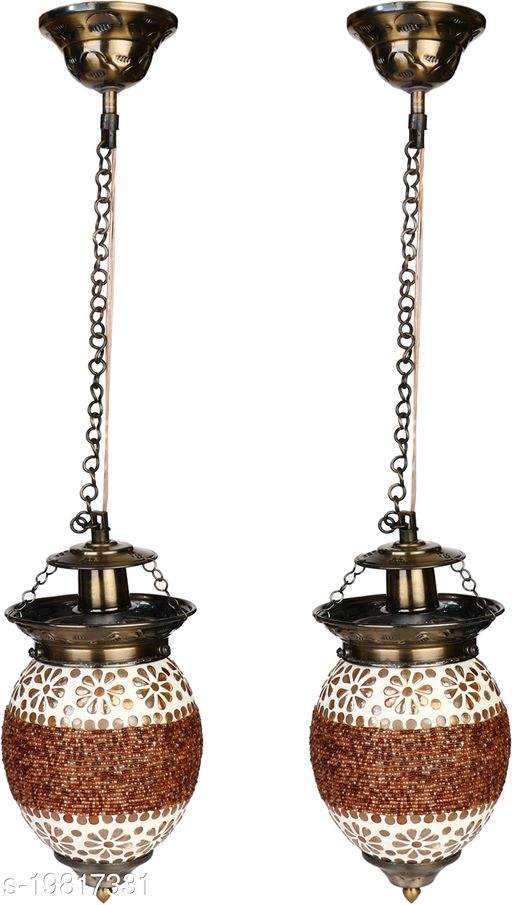 Afast Somil Pandent Glass Ceiling lamp Equipped With Colorful Chips & Beads