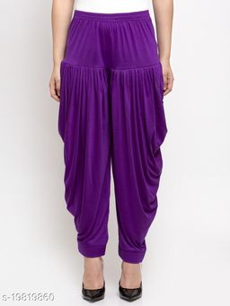 Women Purple Modern Lycra Solid Salwar