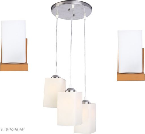 Afast Combo Of 2 Wall Lamp & One Triple Hanging-n01
