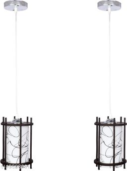 Afast styles Pendant Hanging Ceiling Lamp Light With styles Wooden Box & All Fitting (Set Of Two) -Wd36