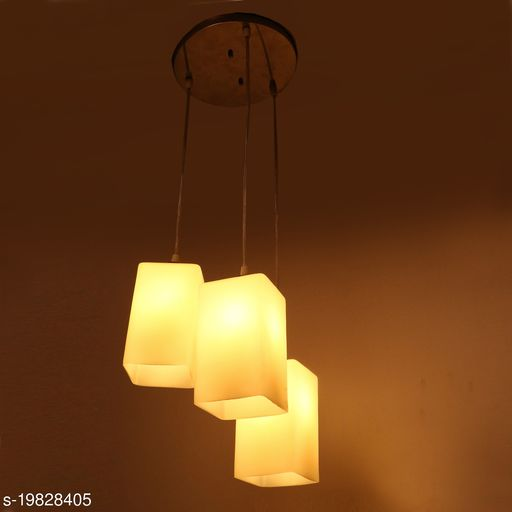 Afast Hanging Ceiling Lamp Of 3 Decorative Glass Shade In,1 Metal Fitting VG36