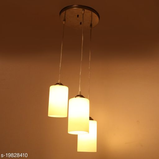 Afast Hanging Ceiling Lamp Of 3 Decorative Glass Shade In,1 Metal Fitting VG35