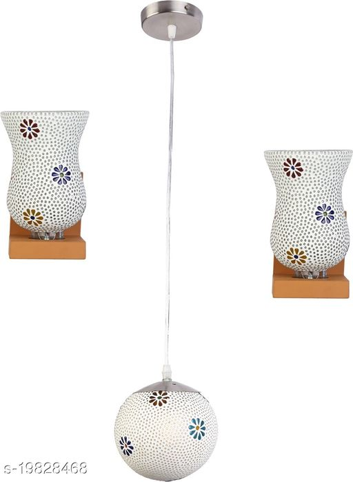 Afast Combo Of 2 Wall Lamp & One Colorful Decorative Hanging Globe