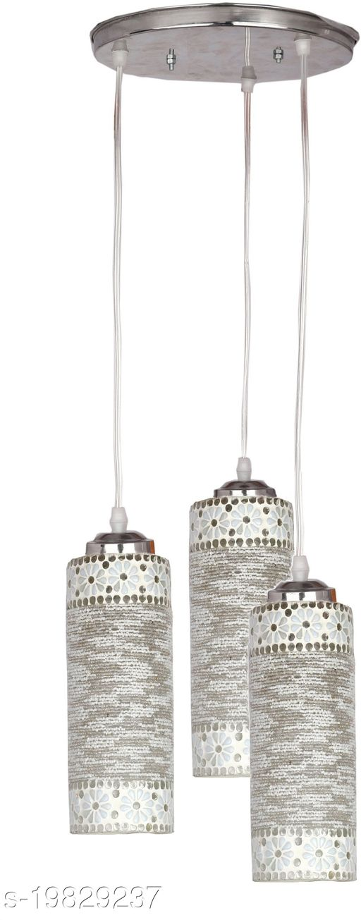 Afast Designer Pendant Hanging Ceiling Lamp With Three Hanging Decorative Glass And All Fitting And Fixture (Bulbe Not Include) No xc19
