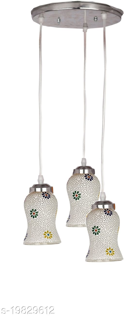 Afast Designer Pendant Hanging Ceiling Lamp With Three Hanging Decorative Glass And All Fitting And Fixture (Bulbe Not Include) No xc29