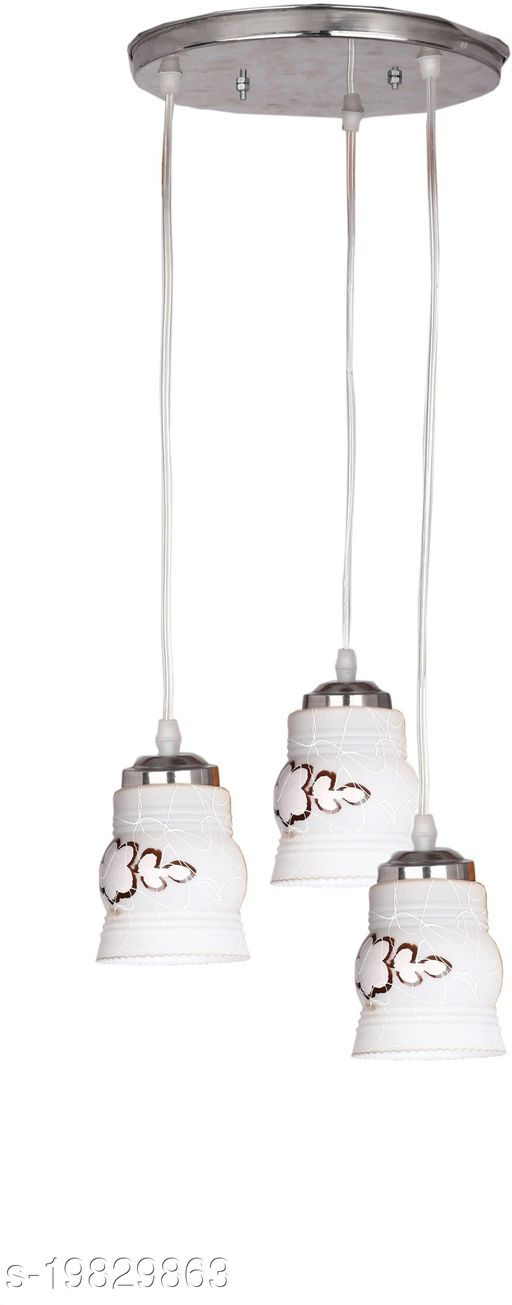 Afast Designer Pendant Hanging Ceiling Lamp With Three Hanging Decorative Glass And All Fitting And Fixture (Bulbe Not Include) No xc5