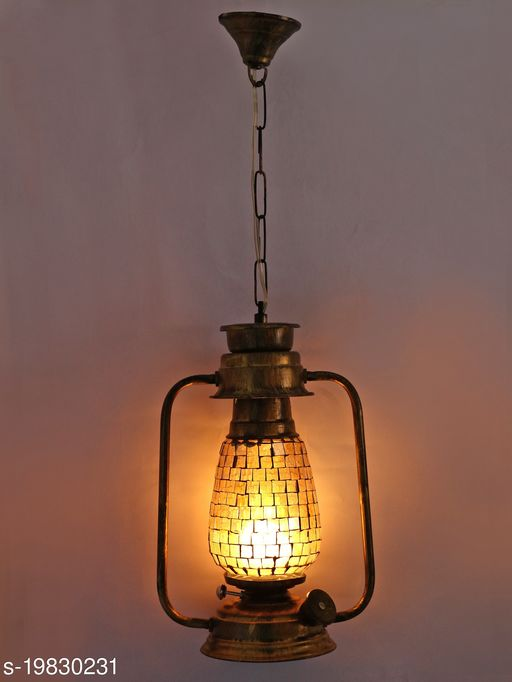 Afast Antique Pendant Hanging Lantern Lamp Light With Colorful Glass Perfect Match Of Trading And Traditional A7