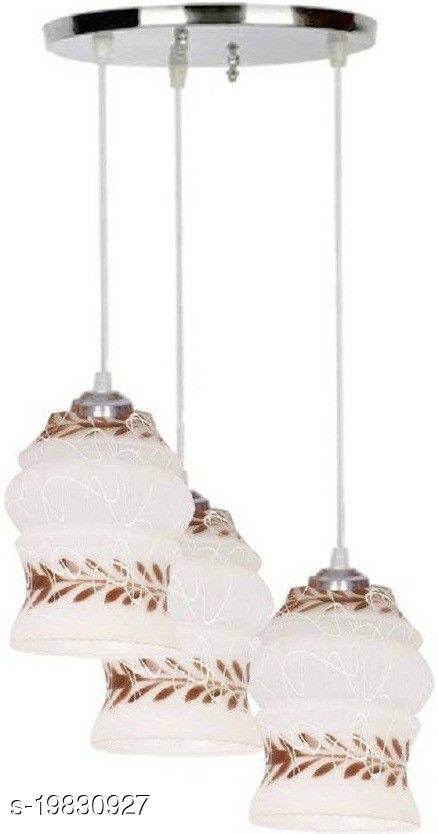Afast Pandans Hanging  Ceiling Light Of Stylish Colorful & Decorative Three Glass Shade Lamp-DR11
