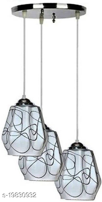 Afast Pandans Hanging  Ceiling Light Of Stylish Colorful & Decorative Three Glass Shade Lamp-DR08
