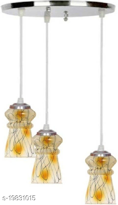 Afast Pandans Hanging  Ceiling Light Of Stylish Colorful & Decorative Three Glass Shade Lamp-DR12