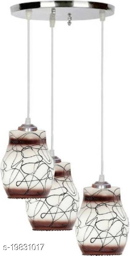 Afast Pandans Hanging  Ceiling Light Of Stylish Colorful & Decorative Three Glass Shade Lamp-DR10