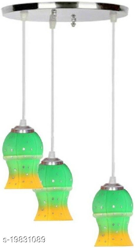 Afast Pandans Hanging  Ceiling Light Of Stylish Colorful & Decorative Three Glass Shade Lamp-DR13