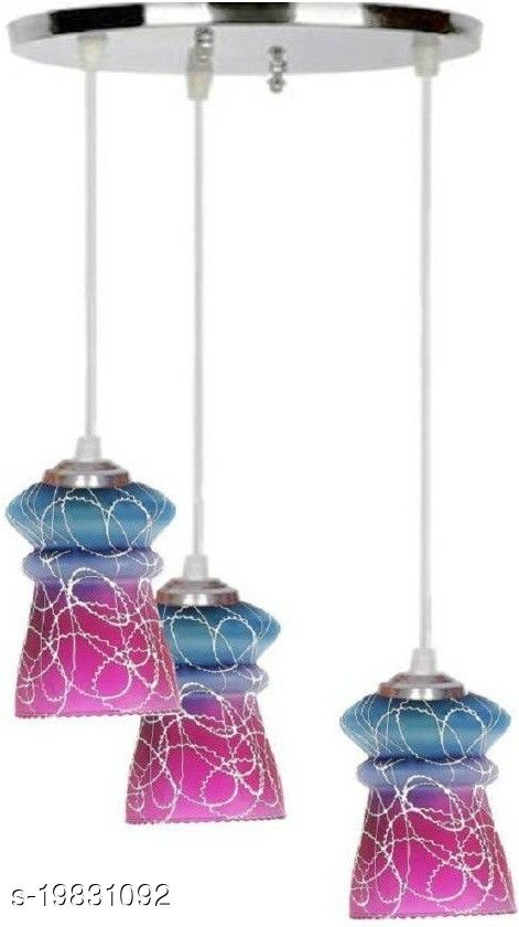 Afast Pandans Hanging  Ceiling Light Of Stylish Colorful & Decorative Three Glass Shade Lamp-DR16