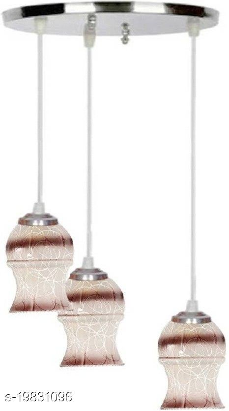 Afast Pandans Hanging  Ceiling Light Of Stylish Colorful & Decorative Three Glass Shade Lamp-DR17
