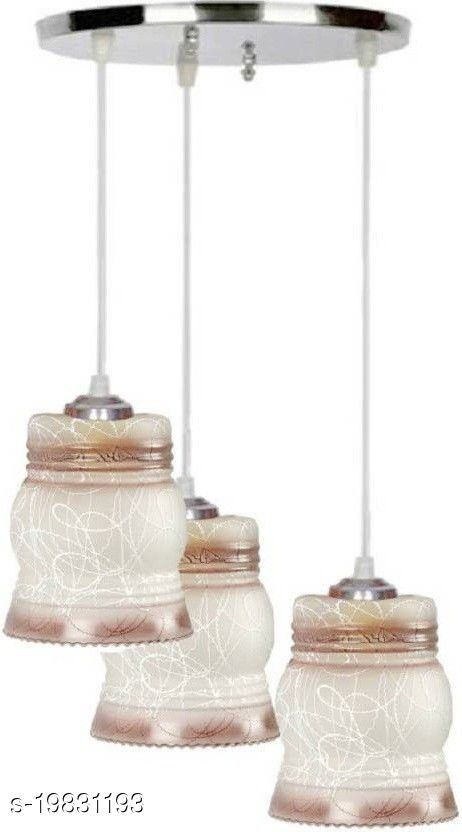 Afast Pandans Hanging  Ceiling Light Of Stylish Colorful & Decorative Three Glass Shade Lamp-DR22