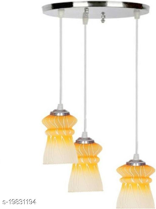 Afast Pandans Hanging  Ceiling Light Of Stylish Colorful & Decorative Three Glass Shade Lamp-DR21